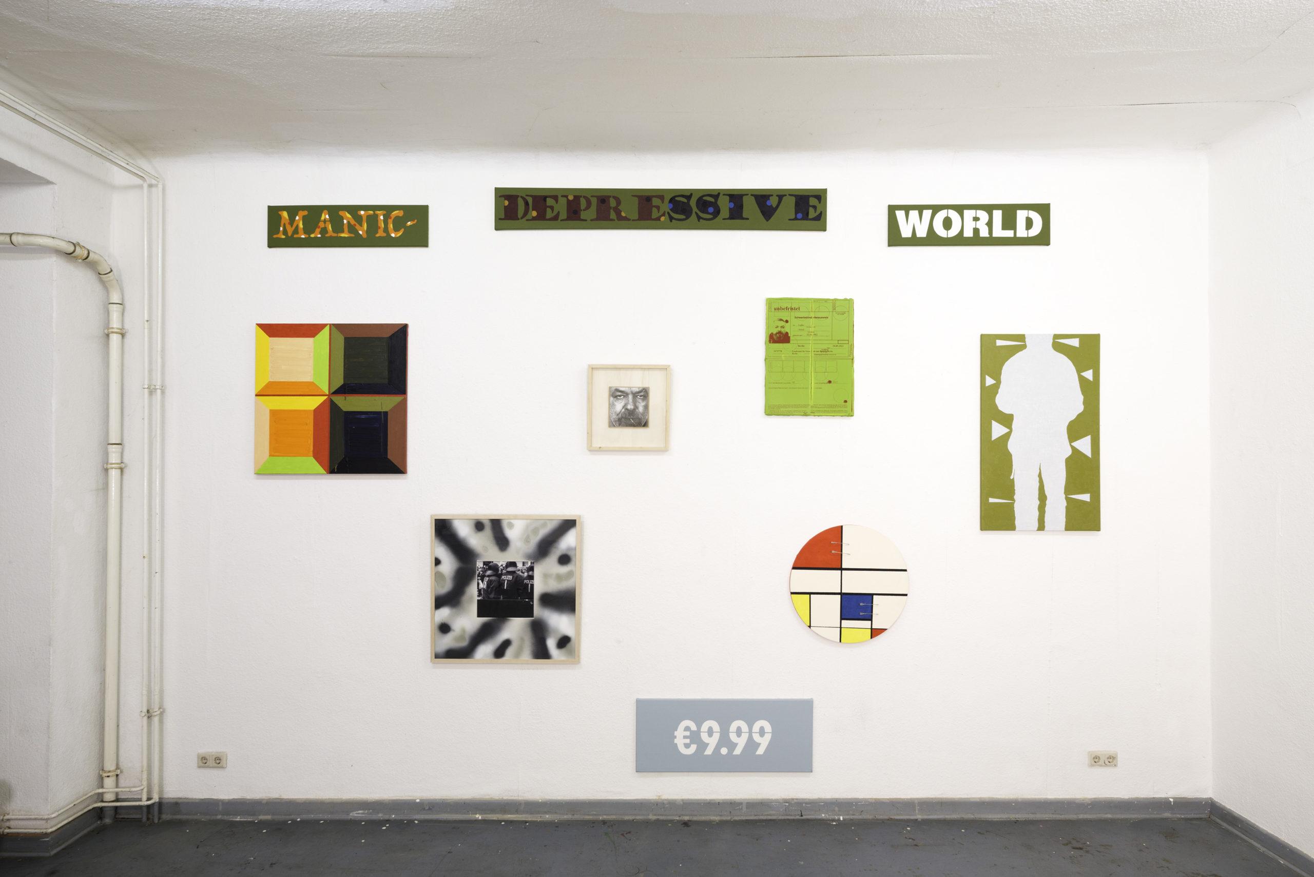 MANISCH DEPRESSIVE WELT, Installation, Künstler: Anton Laiko, 2020, Projektraum Blah-Blah, Foto: Wolf Son